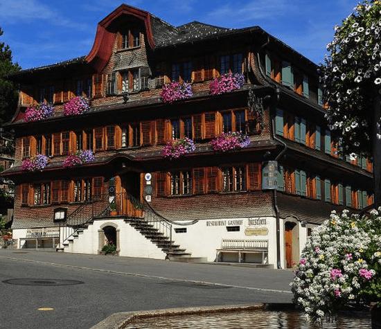 Beispiel: Außenansicht, Foto: Hotel Hirschen Schwarzenberg.